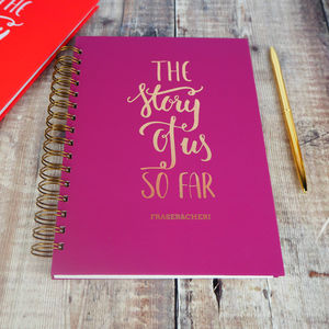 Personalised The Story Of Us So Far Memory Book - for the couple