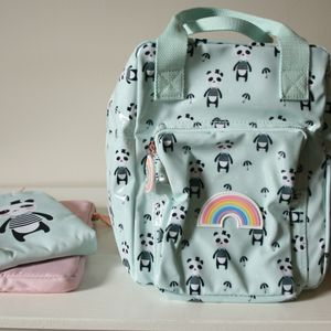 Modern Design Panda Backpack Mint Green