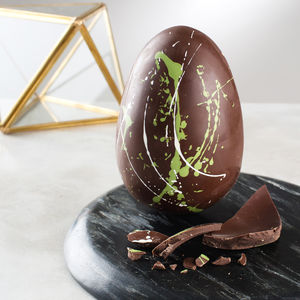 Chocolate Dark Mint Easter Egg With Surprise Message - easter eggs