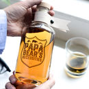 Personalised Papa Bears Necessities Glass Decanter