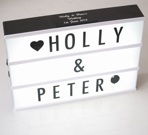 Customisable Cinematic Lightbox - wedding gifts