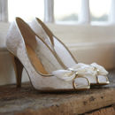 Jessica Ivory Lace Shoes