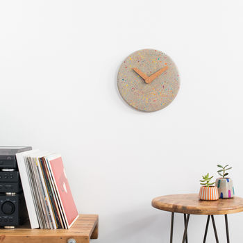 Sprinkles Concrete Wall Clock