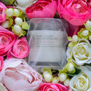 Artificial Bloom Box With Scented Wild Rose Candle Gift