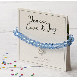 Peace Dove Personalised Bracelet