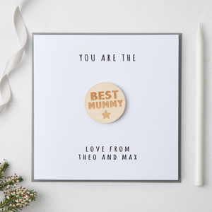 Personalised Best Mummy Badge Card