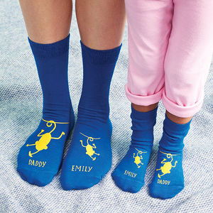 Personalised Cheeky Monkey Daddy Socks - for fathers