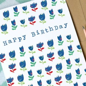 Floral Birthday Card Tulips