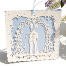Wedding Card Boho Bride Blue Laser Cut