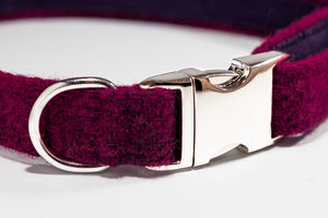 Harris Tweed Dog Collar - pet collars