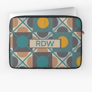 Personalised Retro Laptop Case In Green And Yellow