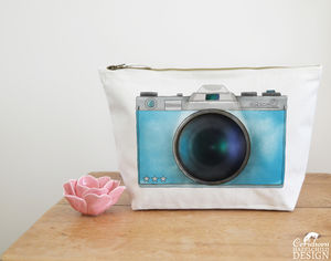 Camera Large Canvas Wash Bag - make-up & wash bags