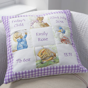 Beatrix Potter© Memory Cushion© Lilac