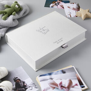 Personalised Welcome To The World New Baby Keepsake Box