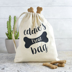 Personalised Dog Treat Bag - new in pets