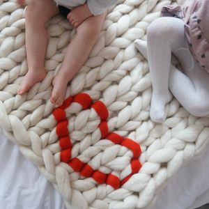 Chunky Knit Love Heart Baby Blanket - our top new picks