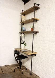 Baines Bespoke Reclaimed Bookcase And Desk - furniture
