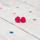 Rose Flower Earrings Brights