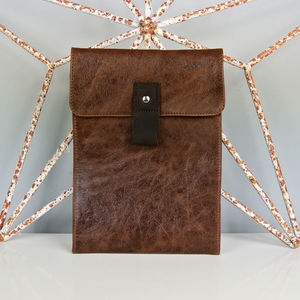 Brown Leather Case For iPad - bags & cases