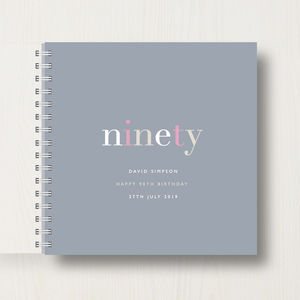 Personalised 90th Birthday Memory Book