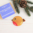 Handmade Glass Robin Christmas Brooch