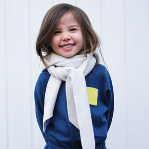 'Not Just A Scarf' Merino Wool Kids Hood Scarf