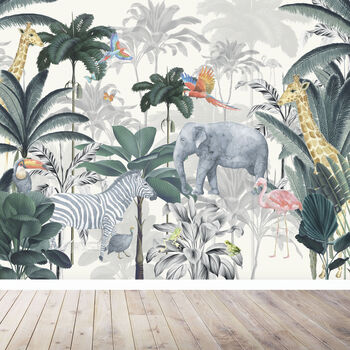 Jungle Wallpaper Mural For Nursery