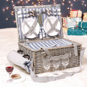 Personalised Willow Picnic Hamper For Four - home sale