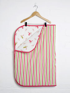 Bird Print Reversible Blanket - summer sale