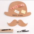 Personalised Hat And Moustache Cork Pinboard