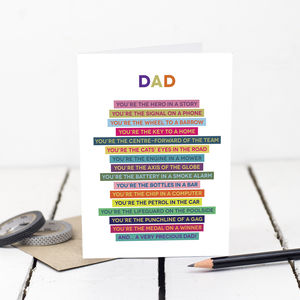 Dad Poem Card