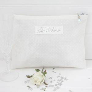 Bride's Personalised Cosmetic Oilcloth Bag