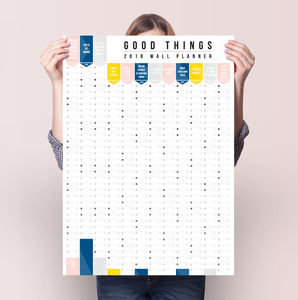 Sale Price 2018 Good Things Wall Planner Calendar - 2018 calendars & planners
