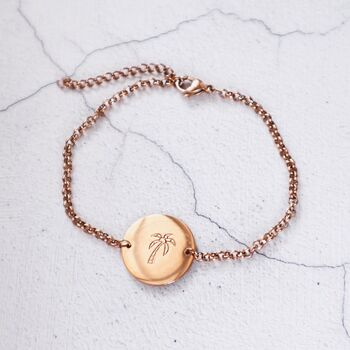 Palm Tree Coin Bracelet