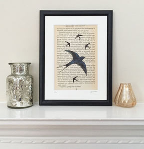 Swallows And Amazons Book Page Print - canvas prints & art