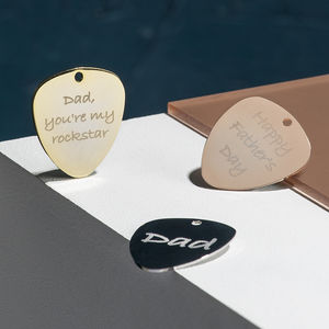 Personalised Contemporary Guitar Plectrum - music fans