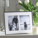 Double Aperture Silver Plated Fine Photo Frame