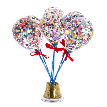 Set Of Six Superhero Mini Balloon Wands