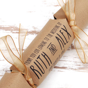 Six Personalised Supernova Wedding Crackers