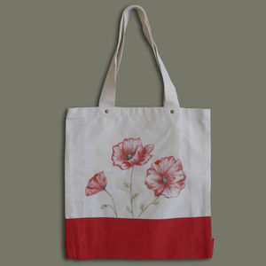 Handpainted Poppy Flowers