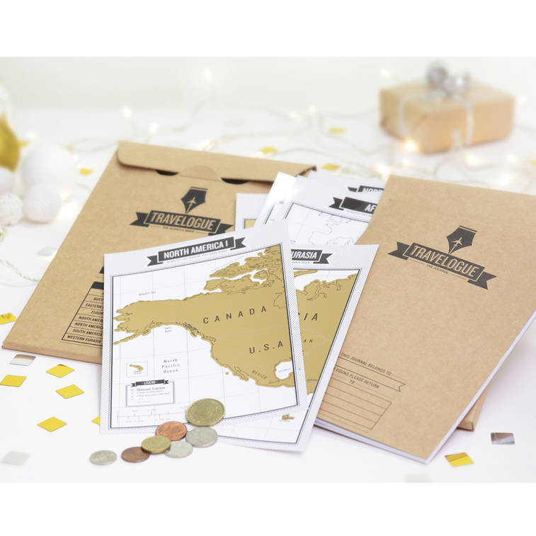 Scratch map travel journal by luckies notonthehighstreet scratch map travel journal sciox Images