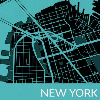 Street Map Of New York City.Personalised New York City Street Map Print By Maps International
