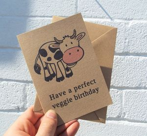 'Perfect Veggie Birthday' Vegetarian Birthday Card - birthday cards