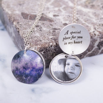 Special Date, Personalised Constellation Photo Locket