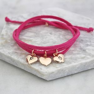 Personalised Suede Wrap Bracelet