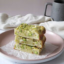 Pistachio And White Chocolate Blondies
