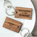 Personalised Wooden Awesome Keyring