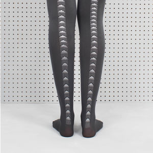 Grey Rain Cloud Printed Tights