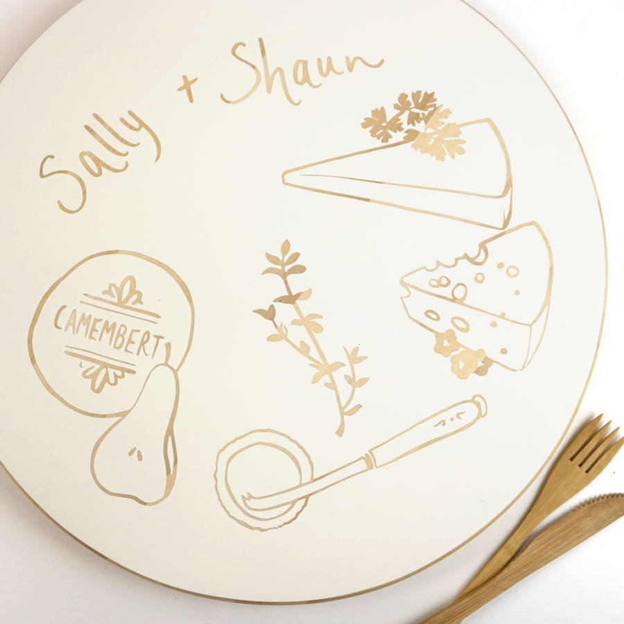 Personalised Hand Painted Cheese Board Wedding Gift