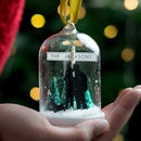 Personalised Family Silhouette Glass Dome Bauble